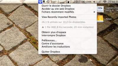 Dropbox import automatique