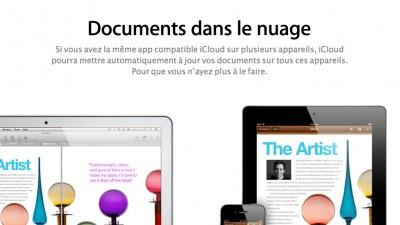 iCloud document nuage