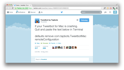 tweetbot mac crash
