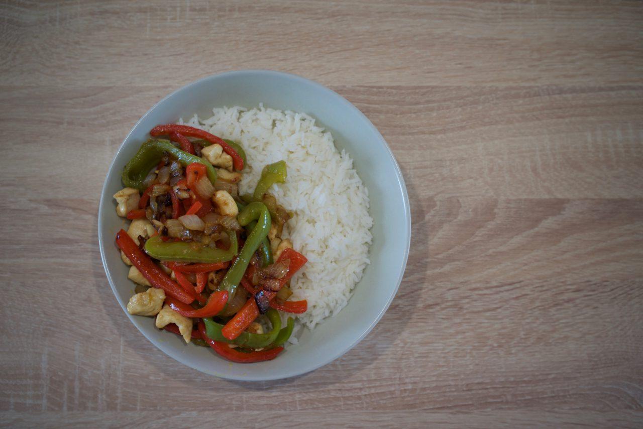 poulet-riz-poivrons