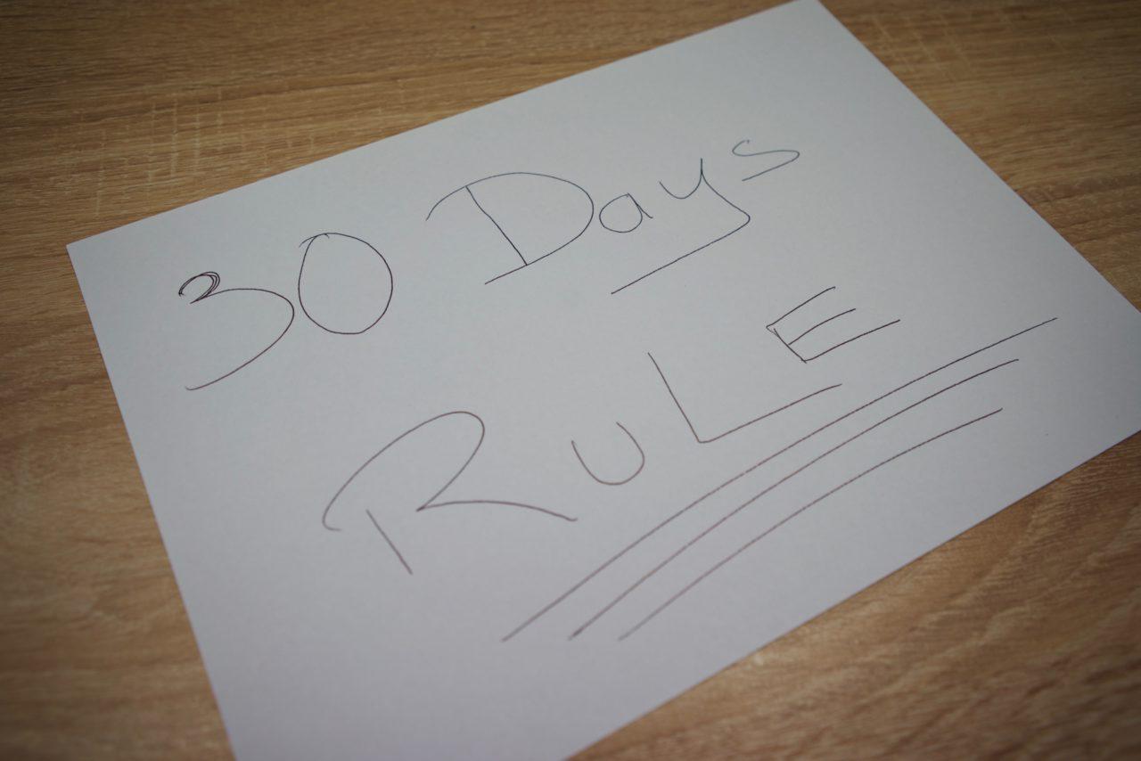 règle 30 jours