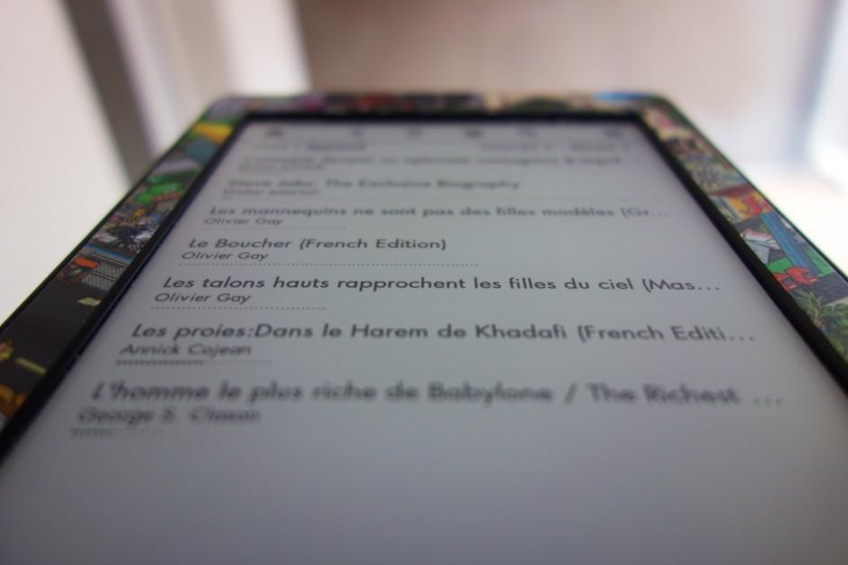 Qualité de l'écran de la kindle Paperwhite 3G
