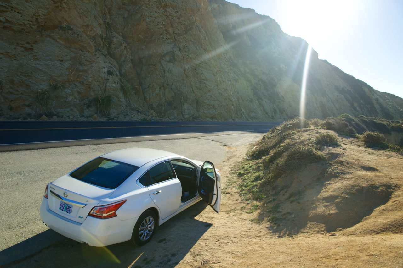 lokan, californie, road, ocean