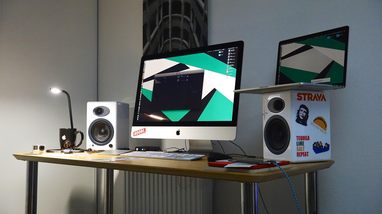 Imac workspace setup workspace in