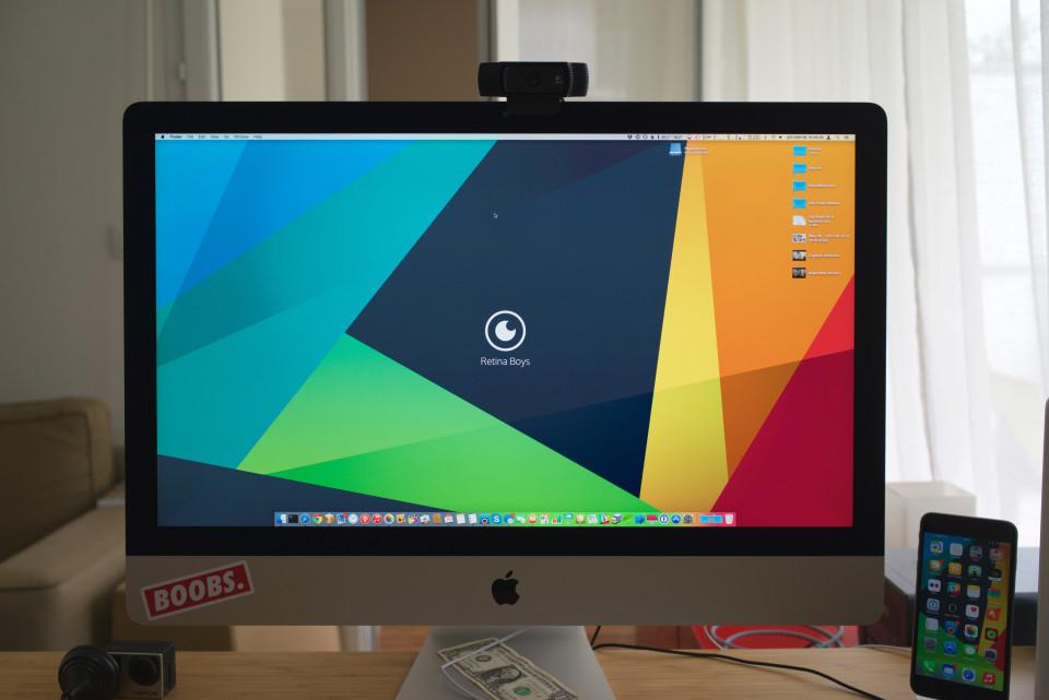 lokan iMac 5K Logitech C920