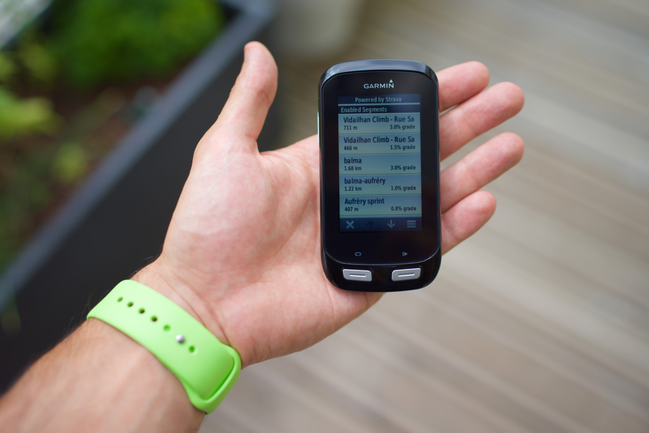 liste segments strava garmin edge 1000