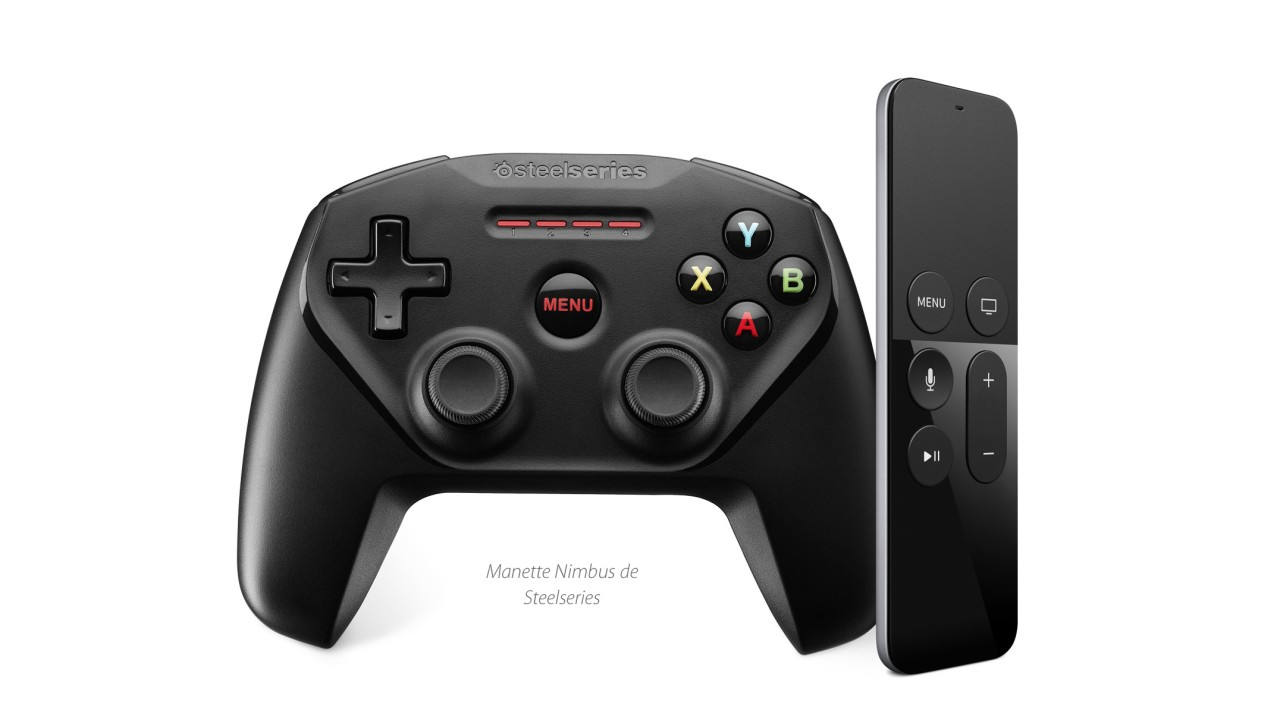 Apple TV remote jeux manette