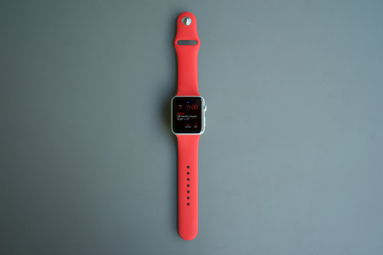 Apple Watch Sport Product RED allumée