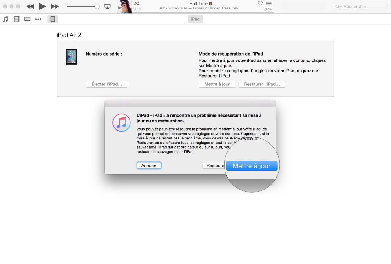 Mettre a jour iOS 9 itunes