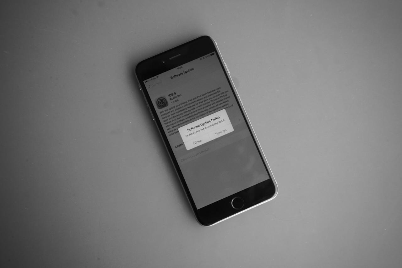iOS 9 iPhone failed