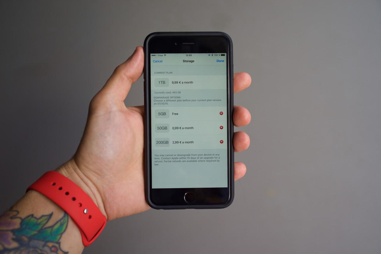 nouveaux tarifs stockage iCloud Drive