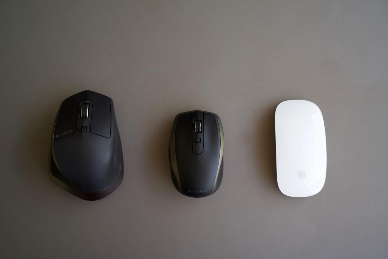 Comparaison MX Master - MX Anywhere 2- Magic Mouse