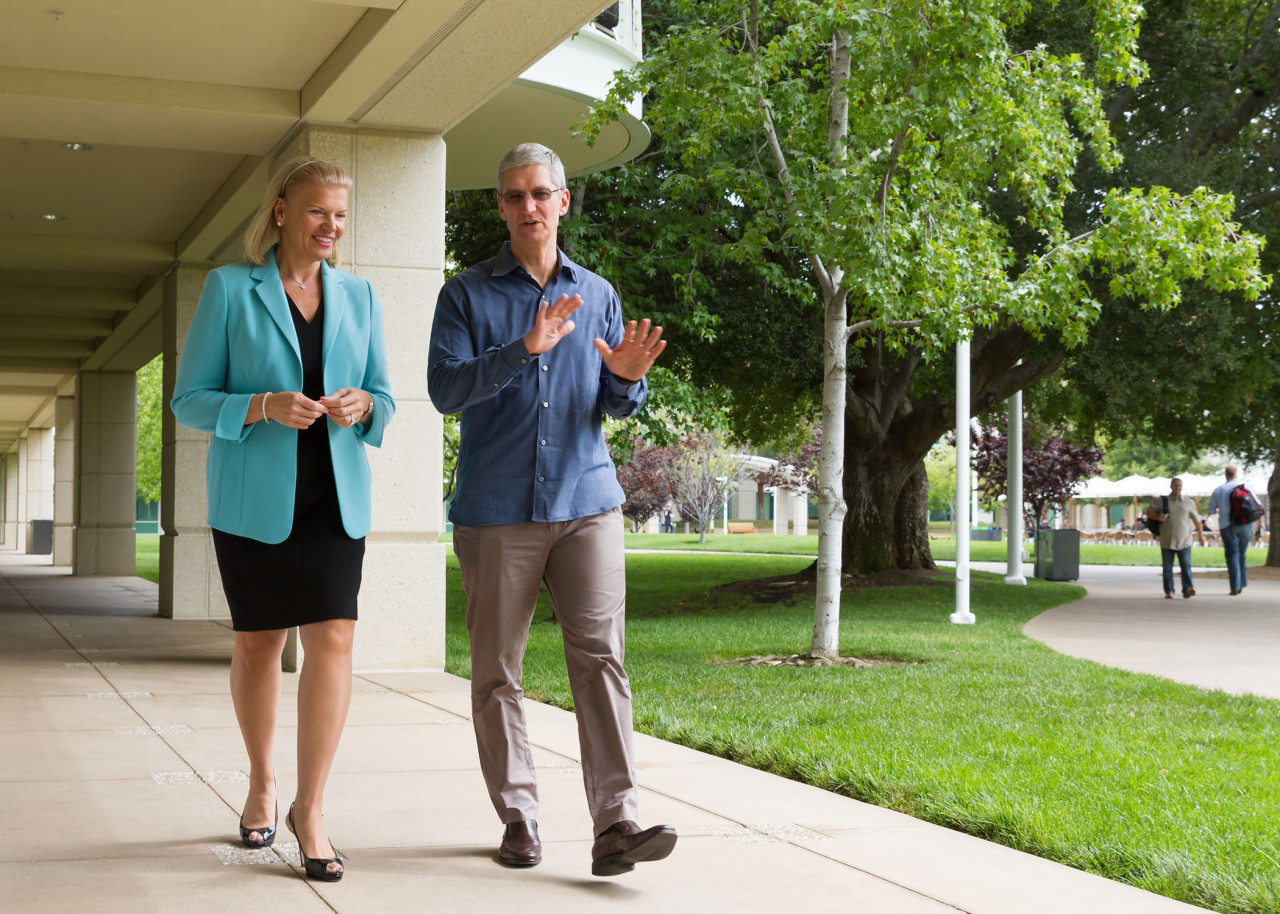 Tim cook Apple et Virginia Rometty IBM