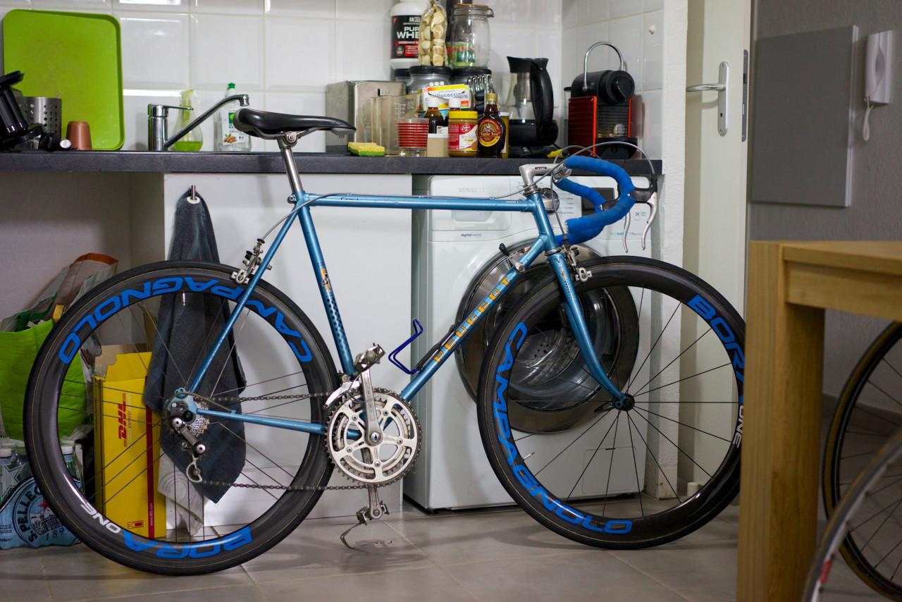cadre acier roues campagnolo bora