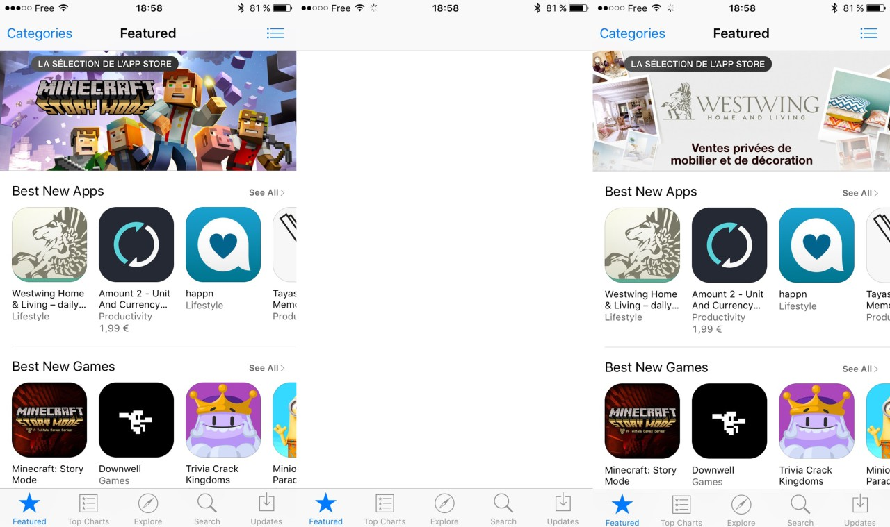 refresh app store iOS