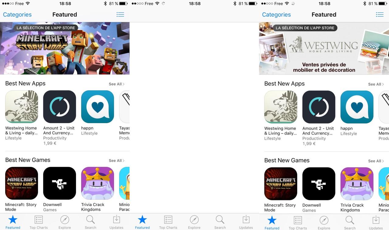 refresh app store iOS