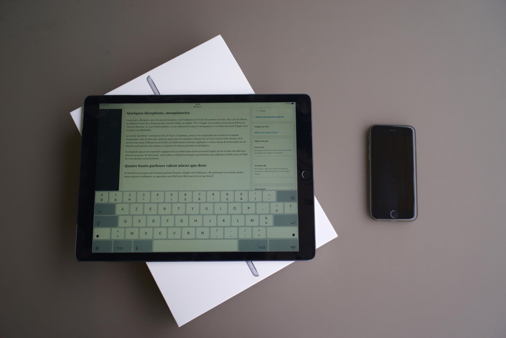 Déballage et test de l iPad Pro 128 Go Cellular 0fb6df589481