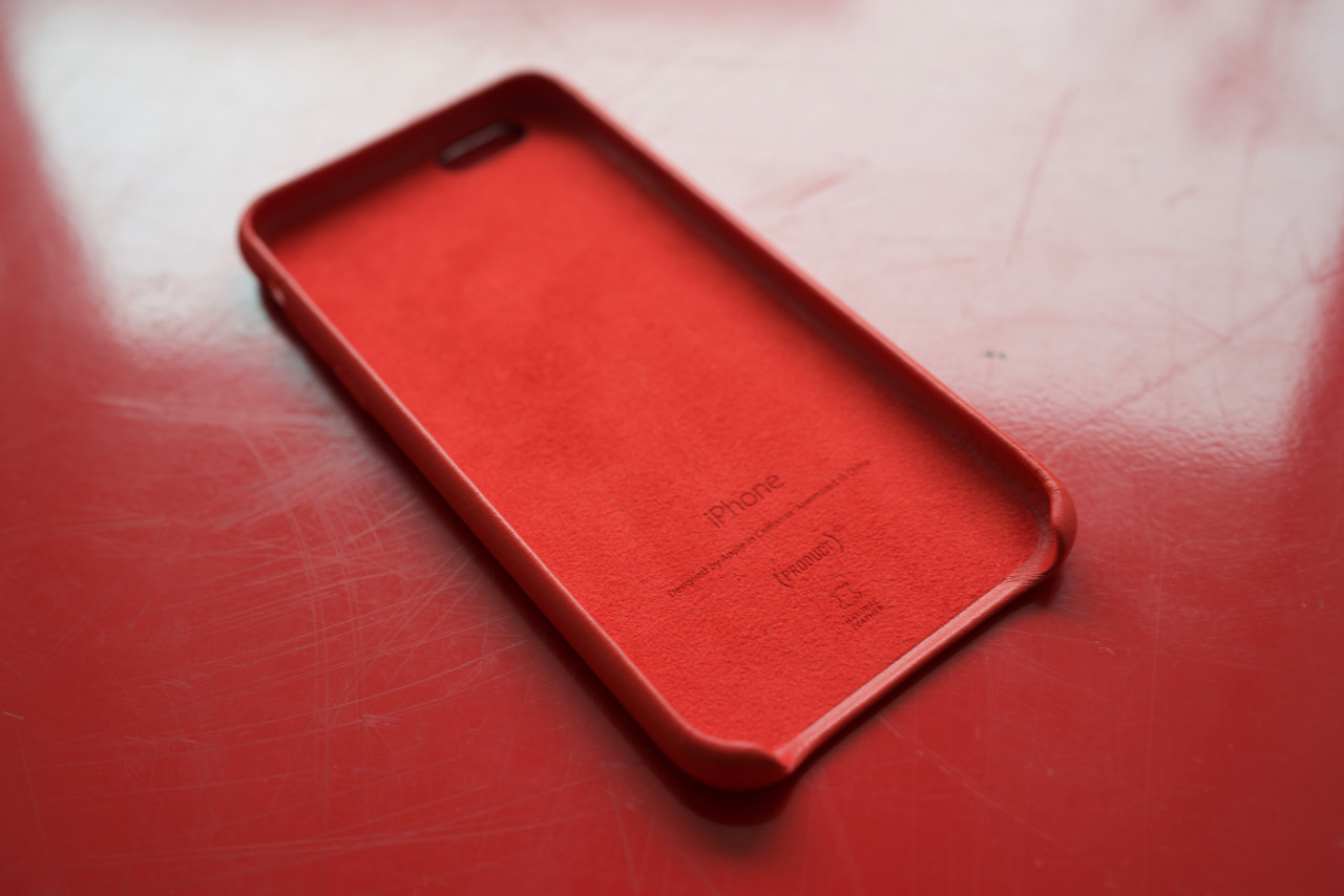 coque cuir PRODUCT RED iPhone