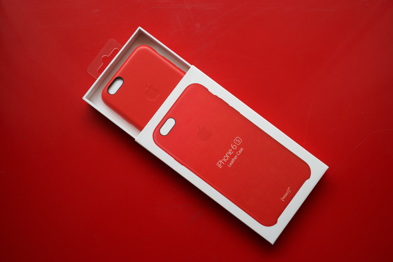coque en silicone pour iphone 6/6s - product red