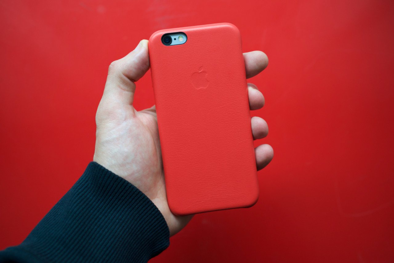 iphone 6s PRODUCT RED coque cuir dos