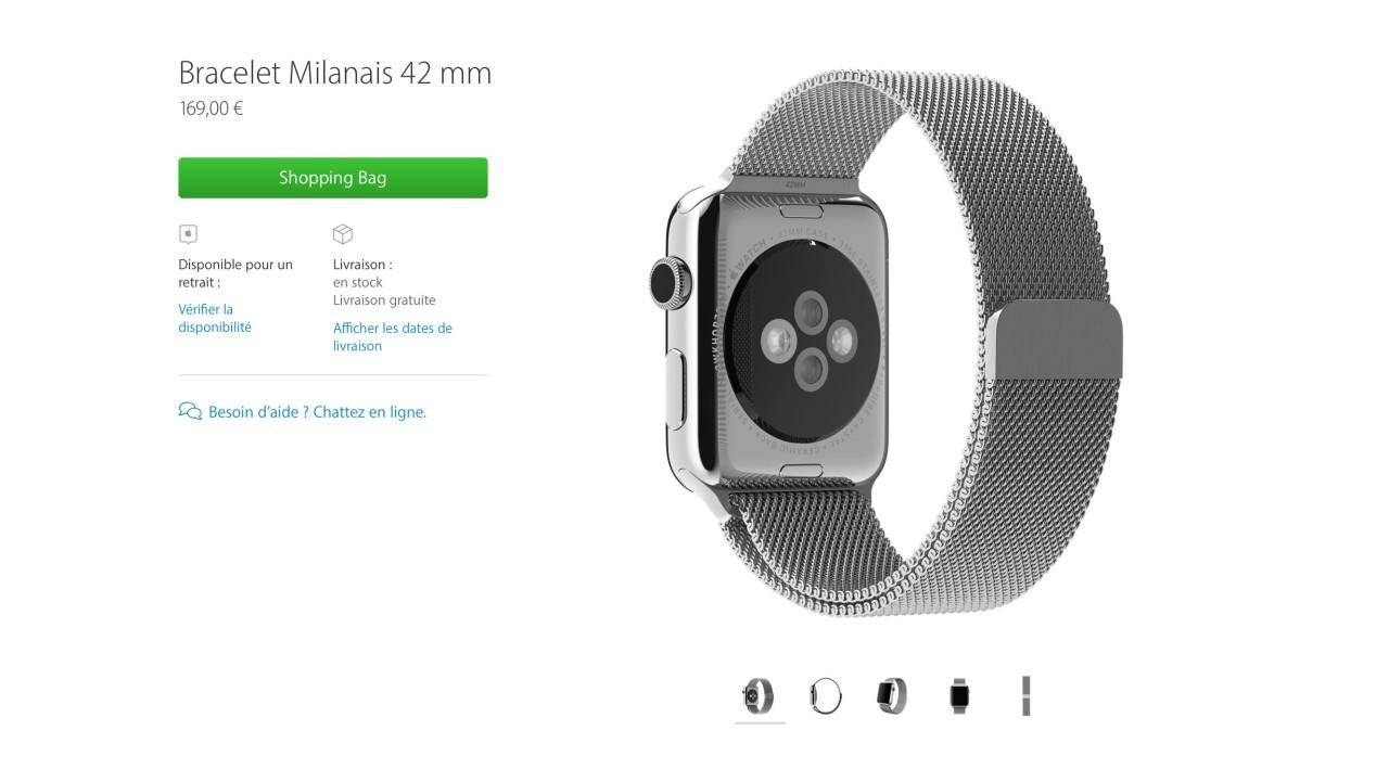 apple bracelet milanais