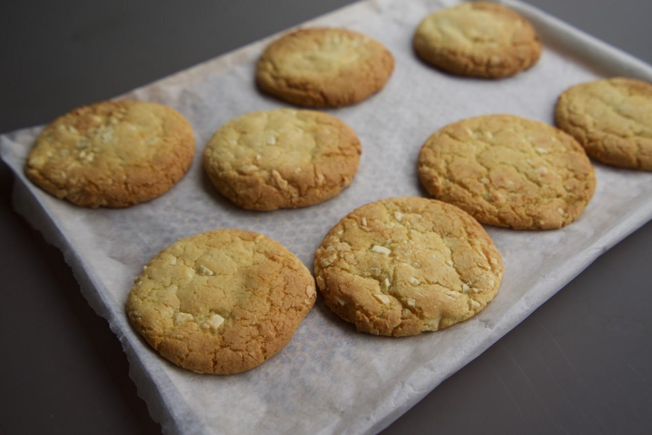 cookies chocolat blanc cuits