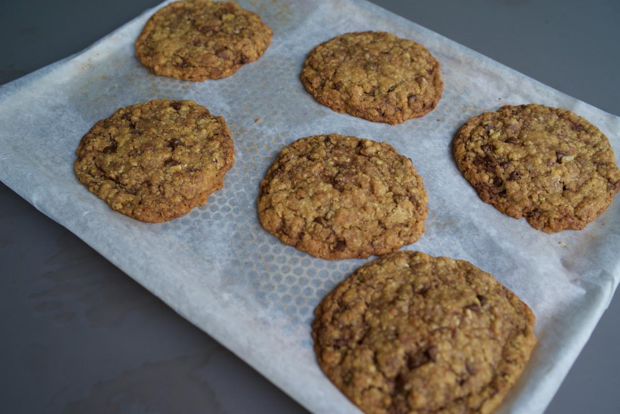 cookies chocolat noir cuits