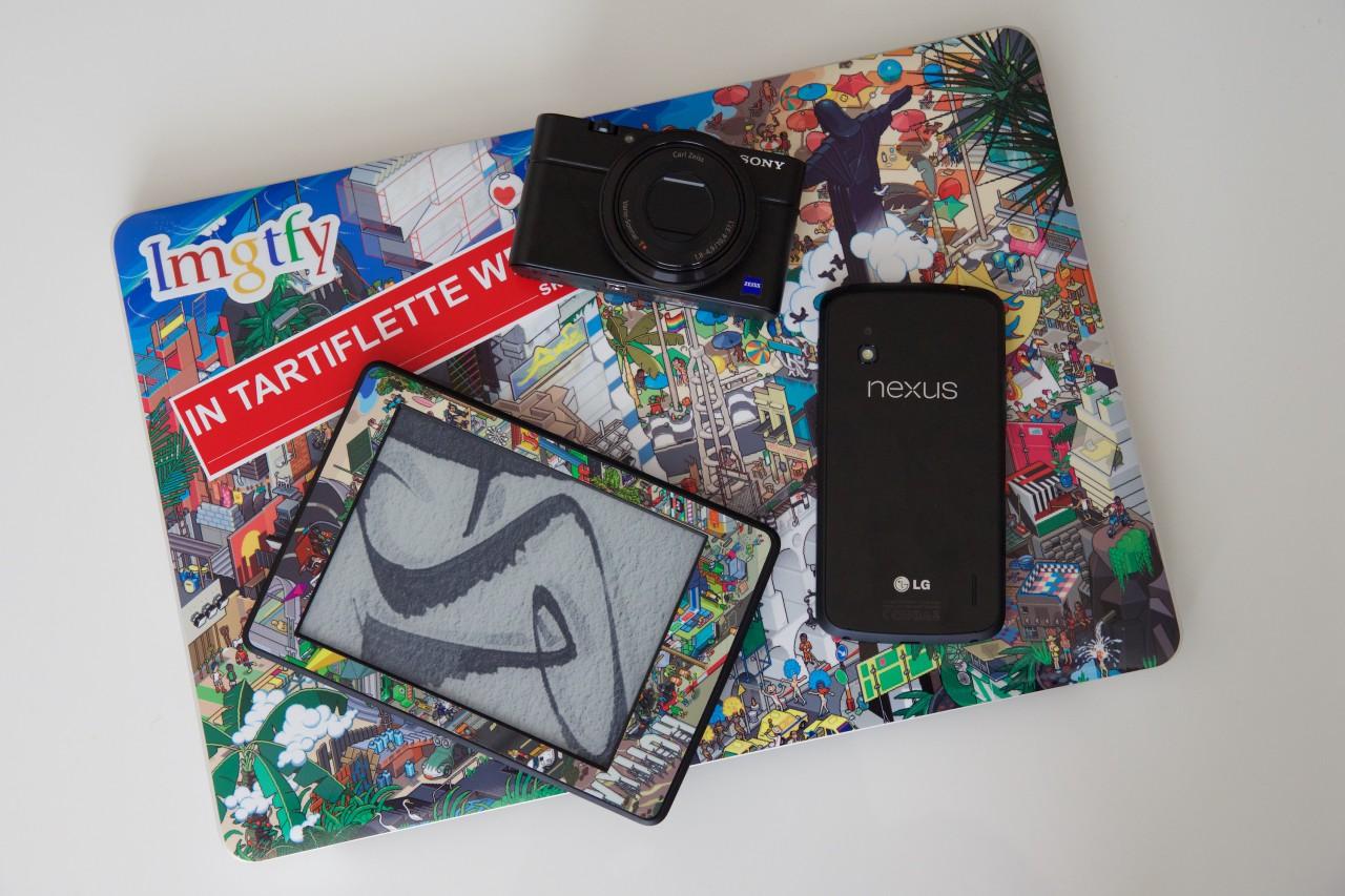 MacBook RX100 Nexus Kindle