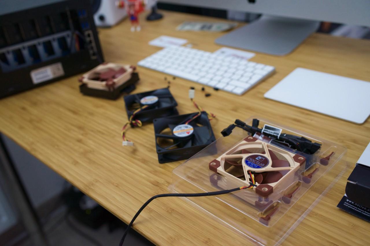 NAS Synology DS1515+ Noctua ventilateurs