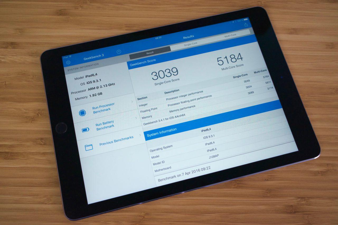 Geekbench iPad Pro 9,7