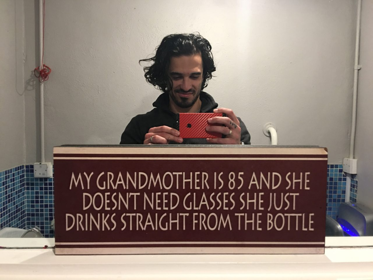 grandmother glass bottle joke