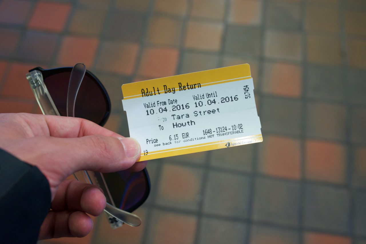 tara street howth dart ticket