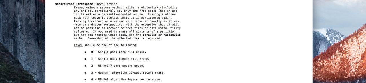 effacer disque dur terminal secureErase