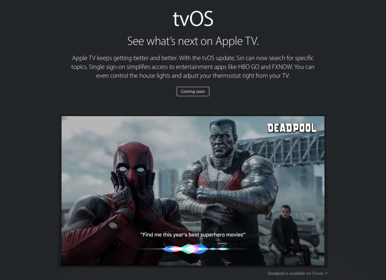 WWDC 16 tvOS Siri