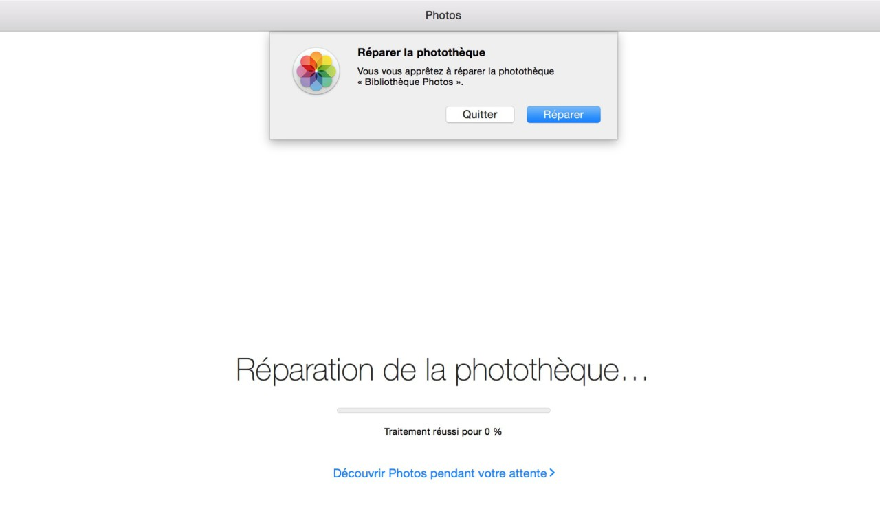 reparation phototheque iCloud Photo Library