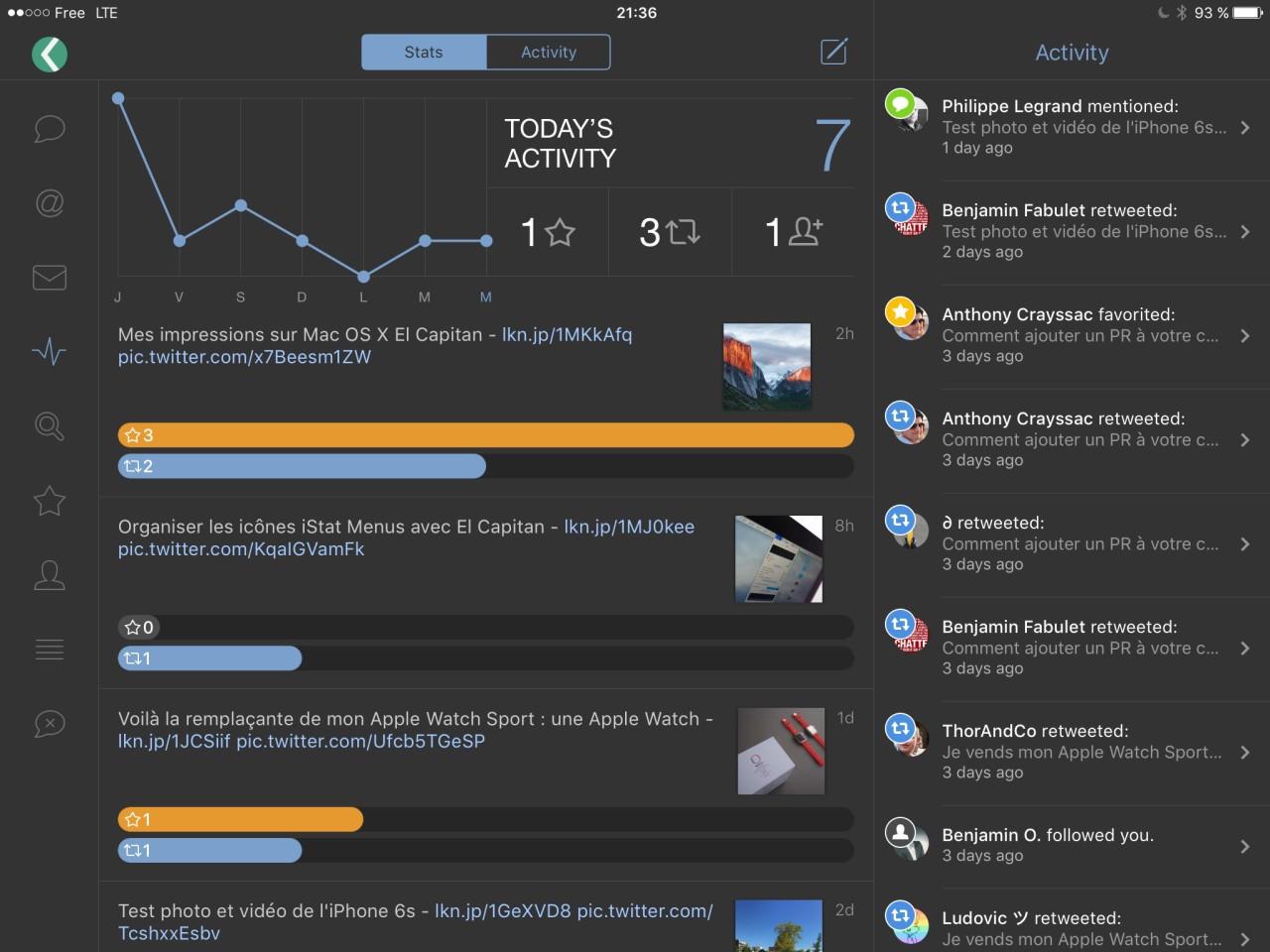Tweetbot 4 mode paysage