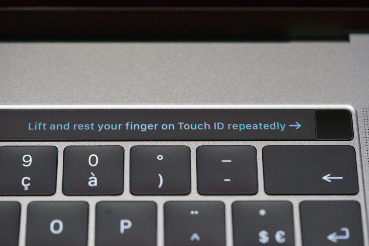setup touchid macbook pro