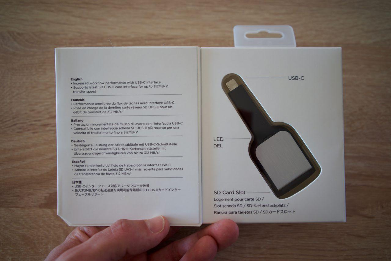 emballage lecteur sd usb-c