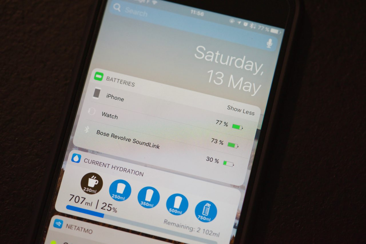 Bose SoundLink Revolve batterie iOS 10