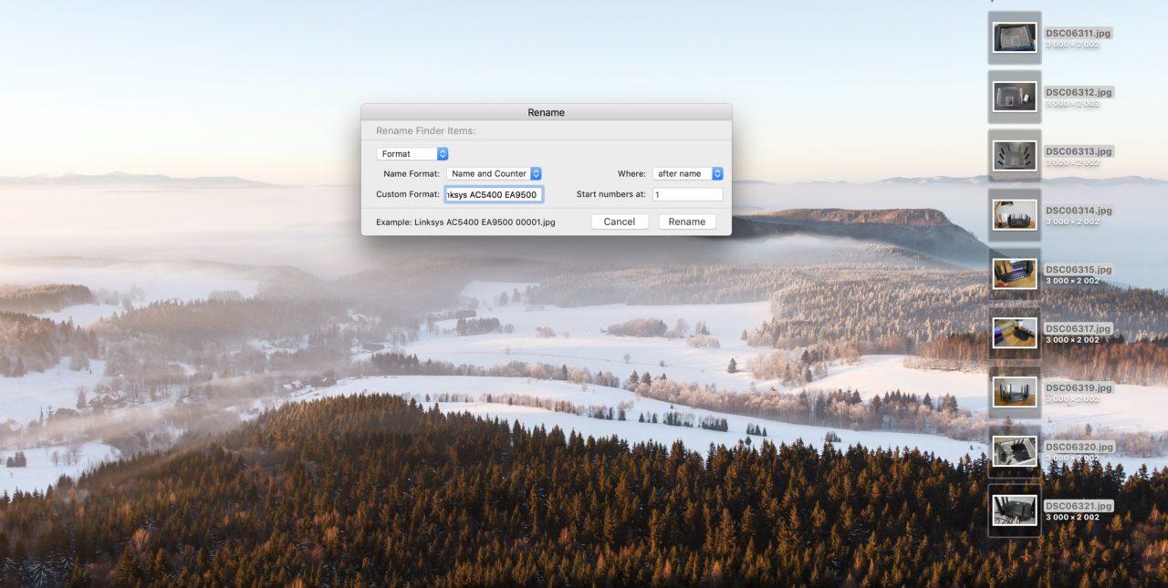 renommer lot fichier finder popup