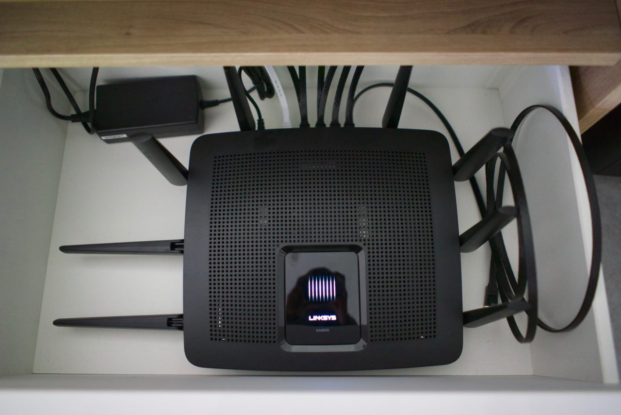 test linksys AC5400 couverture wifi