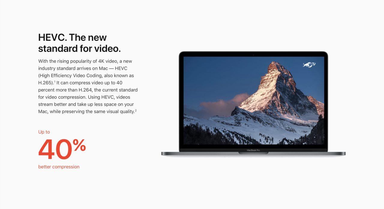 HEVC H265 macOS