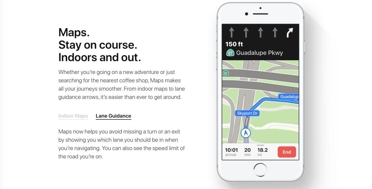 Maps indicateur de voie