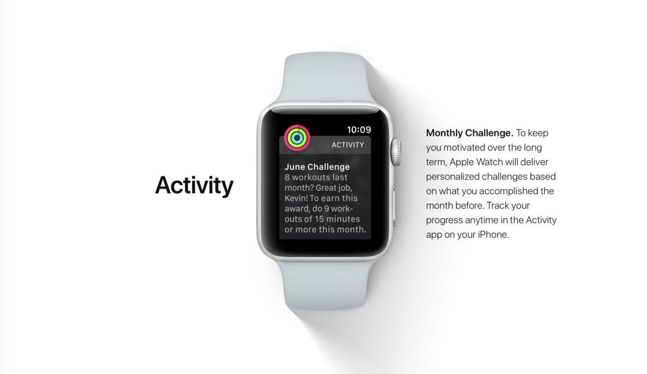 challenge mensuel watchOS 4