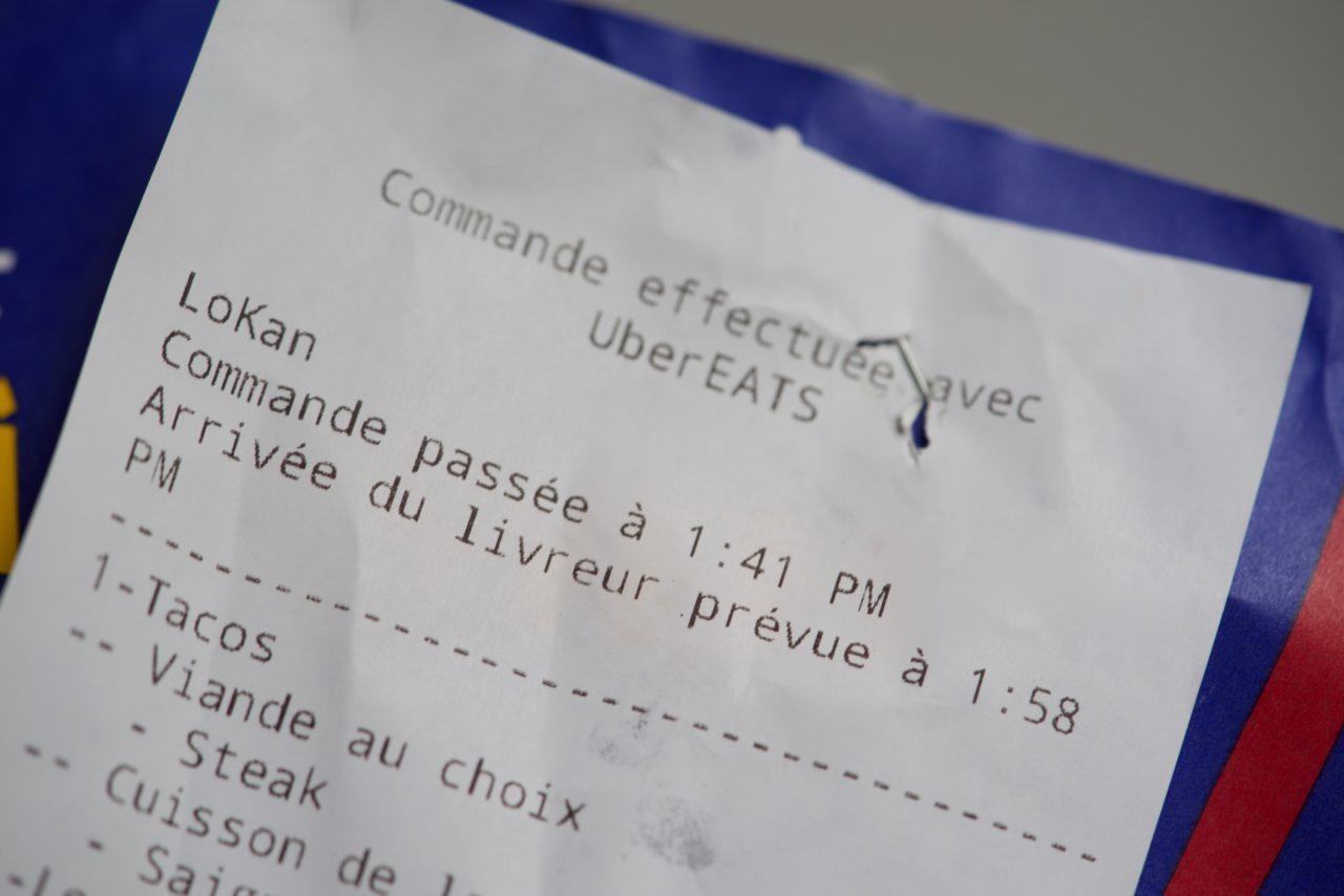 ticket UberEATS