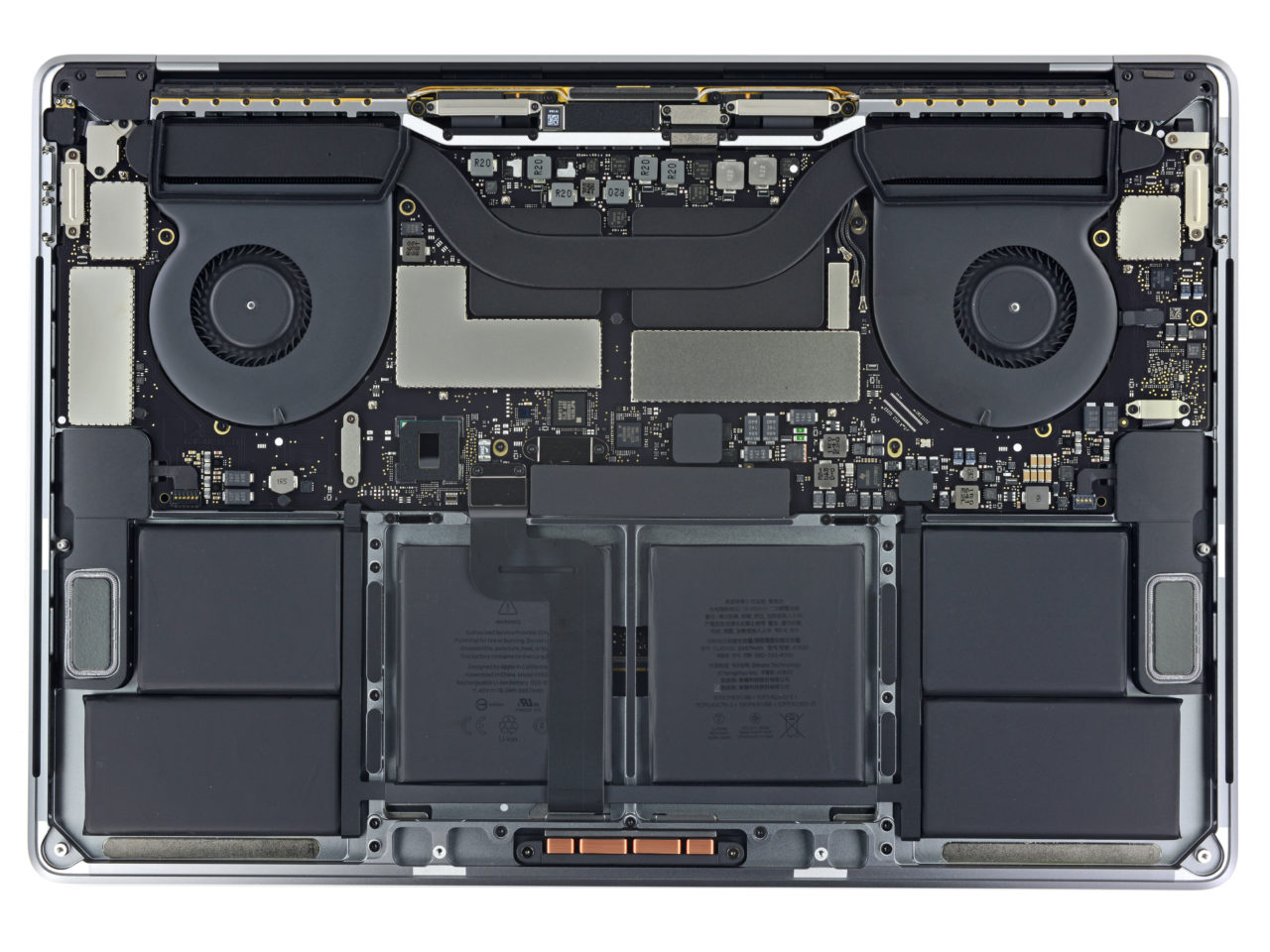 iFixit MacBook Pro late 2016 interieur