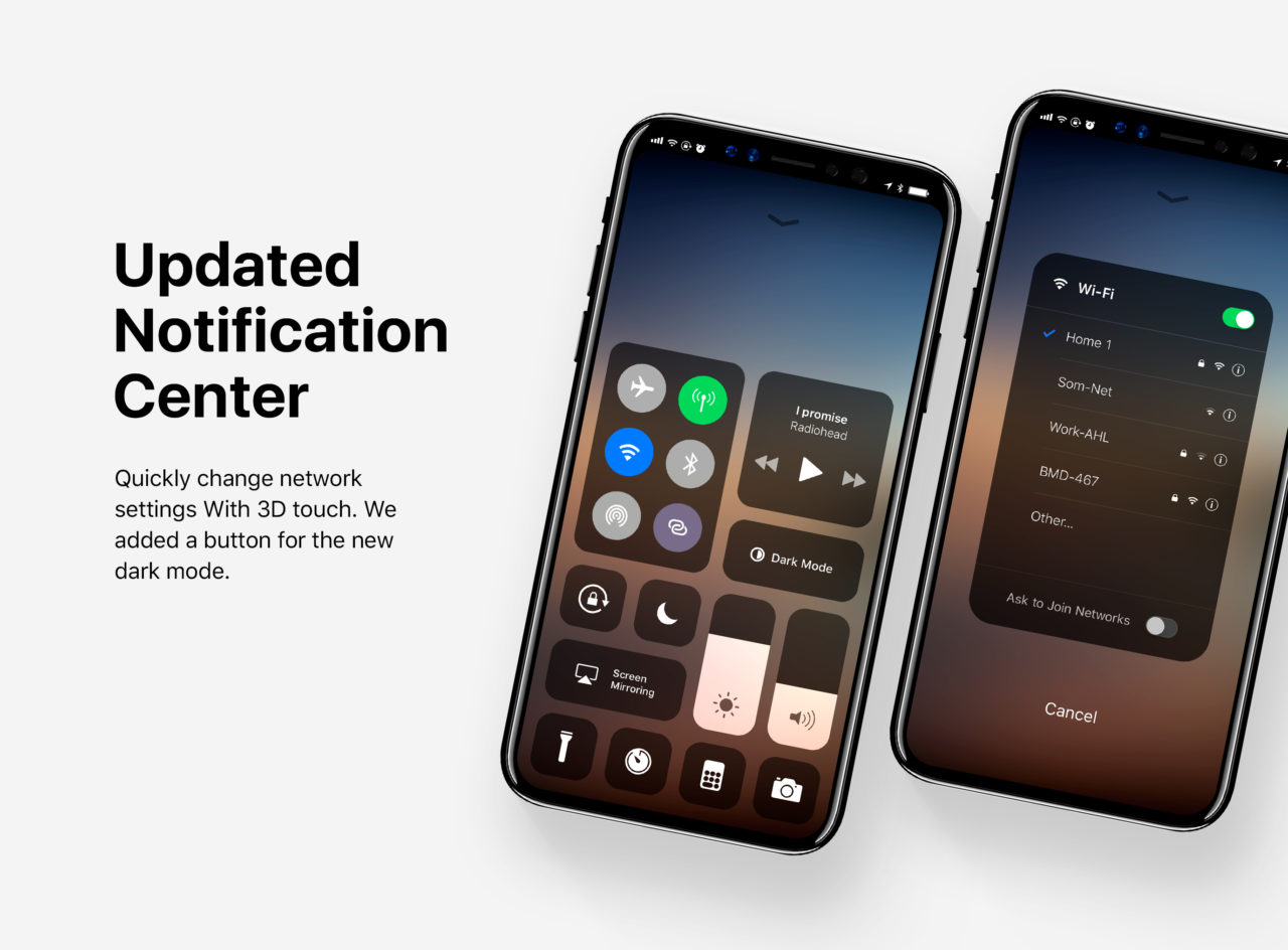 iPhone 8 Edition Concept Control Center