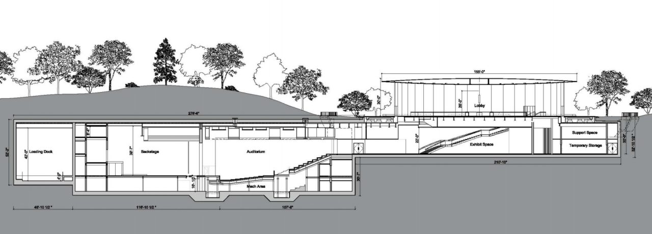 Steve Jobs Theater side blueprint
