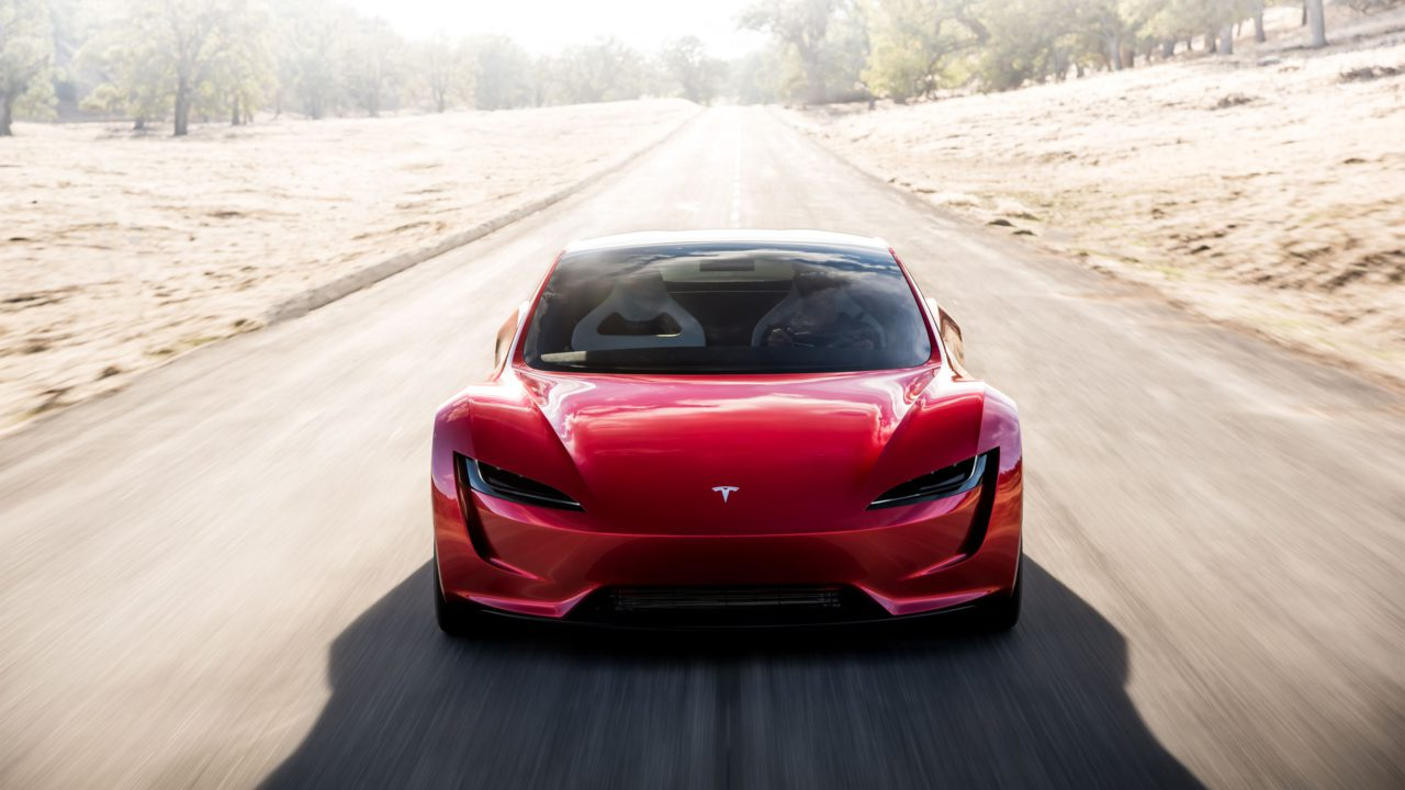 Tesla Roadster Face