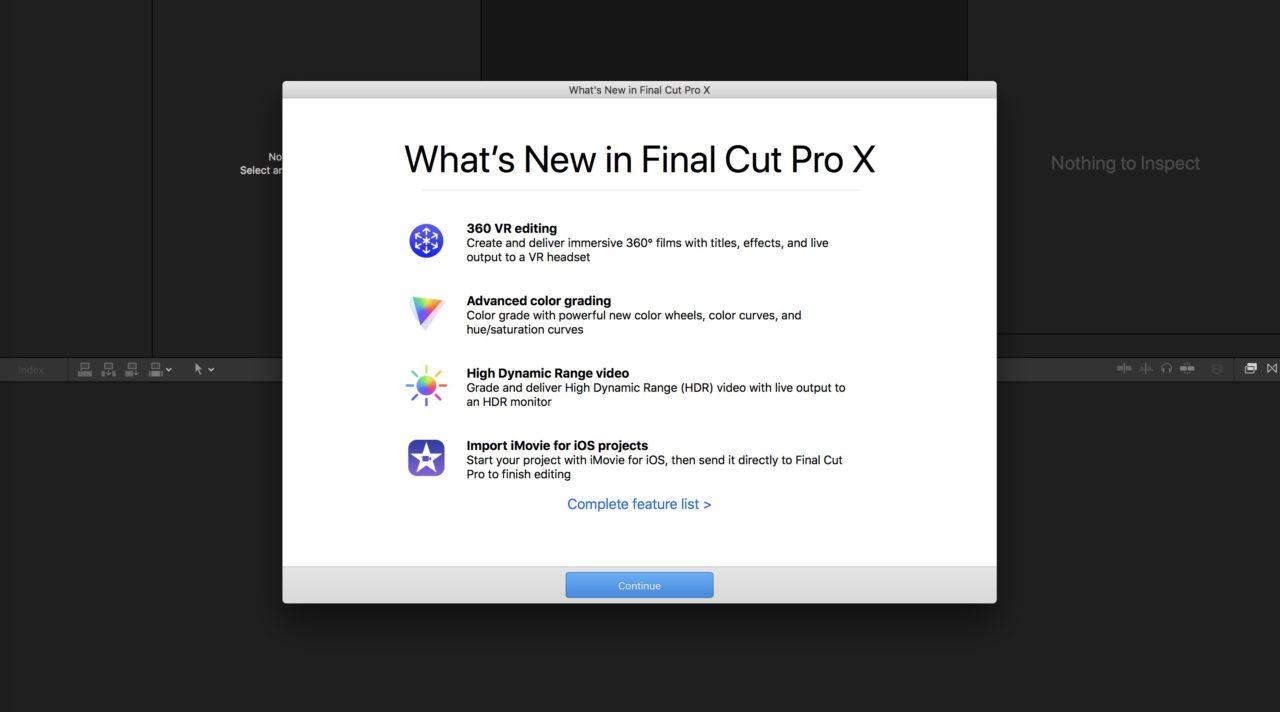 Final Cut Pro 10.4